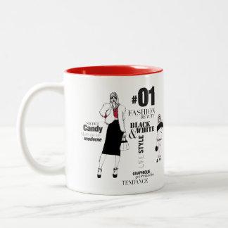 Fashionista #3 Two-Tone mug