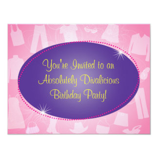 Fashionista Birthday Party Invitation