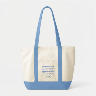Fashions High End Daily Make-up Routine Nat. Blue Canvas Bag