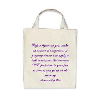 Fashions High End Daily Make-up Routine Organic Canvas Bag