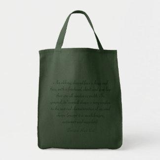 Fashions High End Oblong Shape Face Hunter Green Canvas Bag