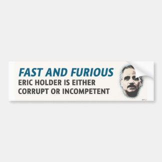 Fast And Furious Gun Scandal Bumper Sticker