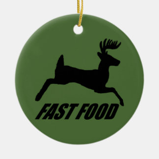 Fast food buck christmas ornament