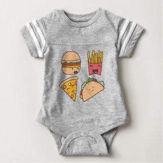 fast food friends baby bodysuit
