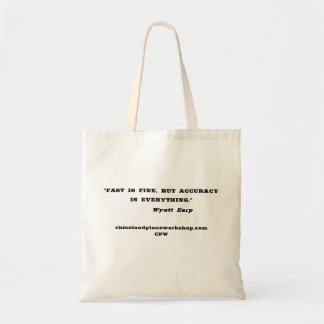 Fast Is Fine Tote Bag