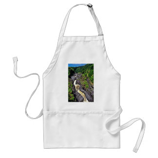 Fast River Waterfall Through Gorge Aprons