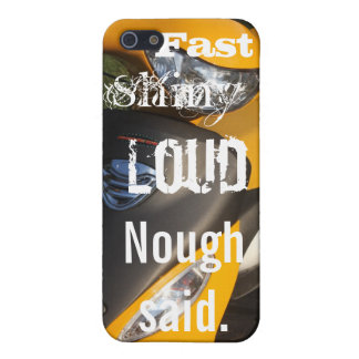 Fast Shiny Loud, Yellow Motorcycle iPhone 5/5S Case