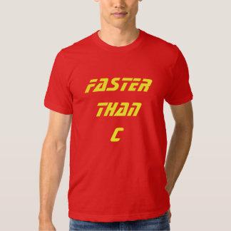 Faster Than c Tshirts