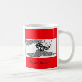 fasterfaster, Faster. faster! Basic White Mug