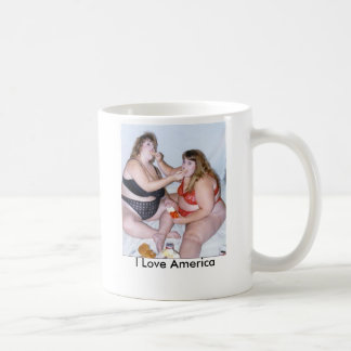 fat birds, I Love America Coffee Mug