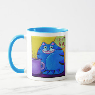 Fat Blue Cat Coffee Cup