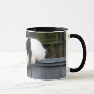 Fat Cat On Fence Mug
