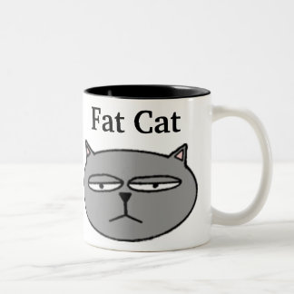 Fat Cat Two-Tone Coffee Mug