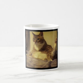 Fat Cat Yoga Pose Coffee Mug