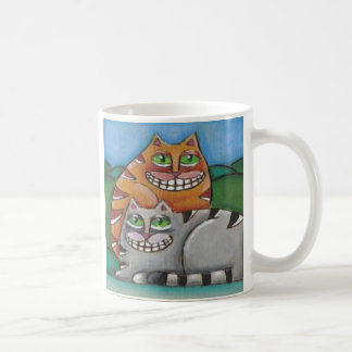 Fat Cats Original Cat Lover Art Mug