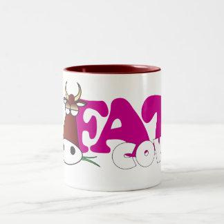 fat cow Two-Tone coffee mug