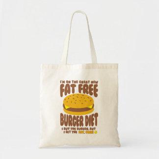 Fat Free Burger Diet Tote Bag