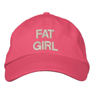 FAT GIRL EMBROIDERED HAT