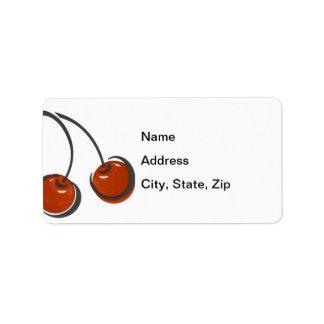 Fat Red Cherries Address Label