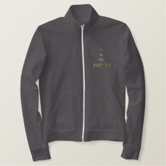 FAT THE CITY MARKET embroidery track/truck jacket