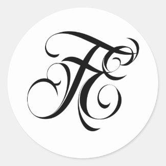 Fatal Endeavors Clothing & Accessories Brand LOGO Round Sticker