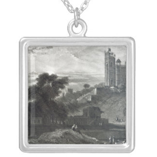 Fatehpur Sikri near Agra, engraved by Brandard Silver Plated Necklace