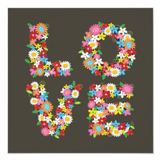 fatfatin LOVE Spring Flowers Save The Date 13 Cm X 13 Cm Square Invitation Card
