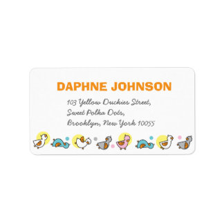 fatfatin Silly Duckies Pastel Baby Shower Labels