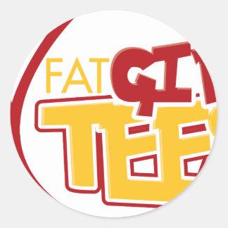 FatGirlTees 1 Classic Round Sticker