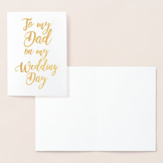 Father Dad of the Bride or Groom Wedding Thank You Foil Card