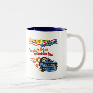 Father-in-law Auto Racing Father's Day Gifts Two-Tone Coffee Mug