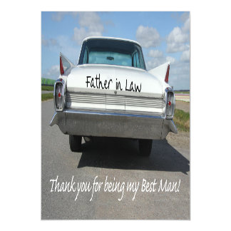 Father in Law  best man thank you Magnetic Invitations
