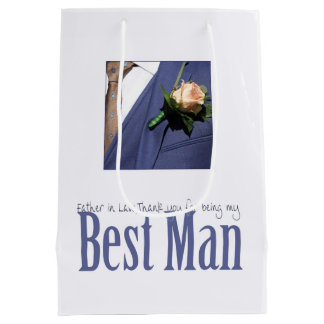 Father in Law  best man thank you Medium Gift Bag