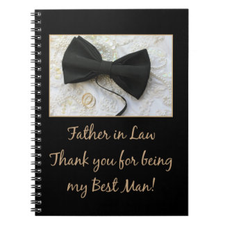 Father in Law  best man thank you Notebooks