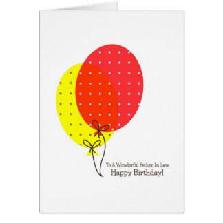 Father In Law Birthday Cards Big Colorful Balloons