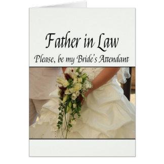 Father in Law - Bride's Attendant Invitation Cards