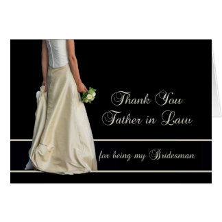 Father in Law Bridesman thank you Card