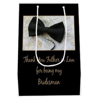 Father in Law Bridesman thank you Medium Gift Bag
