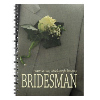 Father in Law Bridesman thank you Note Books