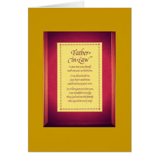 father-in-law- greeting card