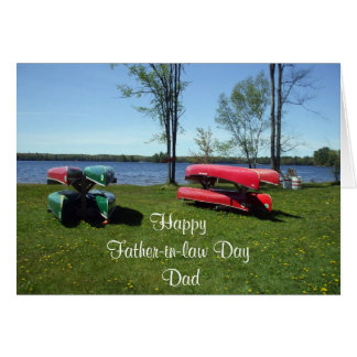 Father-in-Law Day-Canoes Card