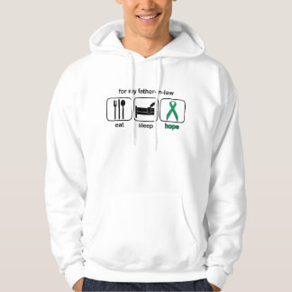 Father-in-law Eat Sleep Hope - Kidney Cancer Hoodie