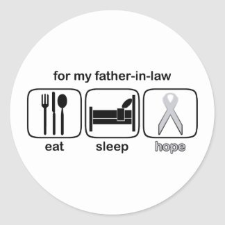 Father-in-law Eat Sleep Hope - Lung Cancer Round Sticker