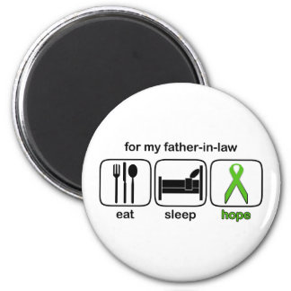 Father-in-law Eat Sleep Hope - Lymphoma Magnet