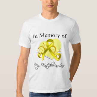 Father-in-Law - In Memory of Military Tribute T-shirt