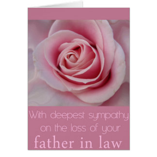 Father in Law loss Rose sympathy Card