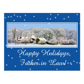 father in law Merry Christmas card Postcard