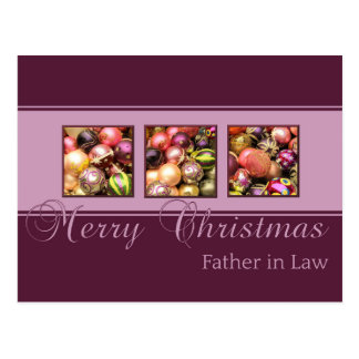 father in law Merry Christmas card Post Cards