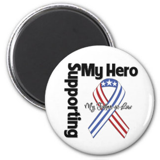 Father-in-Law - Military Supporting My Hero 6 Cm Round Magnet