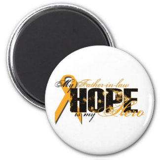 Father-in-law My Hero - Leukemia Hope Magnet